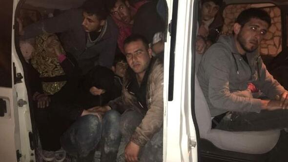 50 Suriyeli mülteci yakalandı