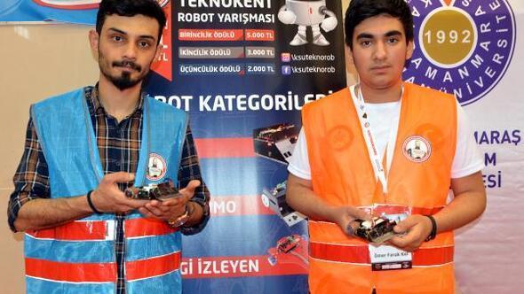 Kahramanmaraşta 1inci Uluslararası Teknokent Robot Yarışması