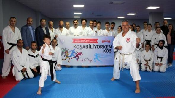 'Koşabiliyorken Koş' projesi ile herkes karate yapıyor
