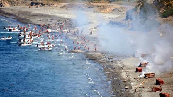 Efes 2018 Tatbikatının gündüz bölümü nefes kesti