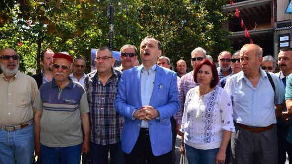 CHPliler Manisada Filistinliler için meydana indi