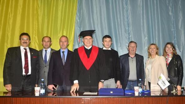 Dr. Mustafa Aydın'a Ukraynadan fahri doktora