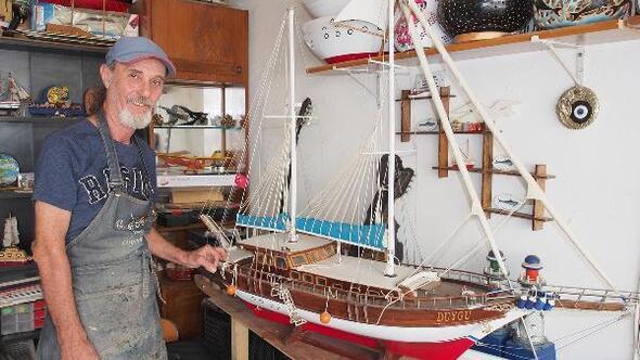 Tarihi tekneler maketlerde yaşatılıyor