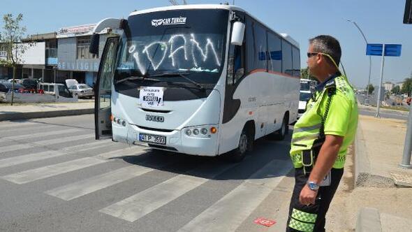 Servis sürücülerinden çocuk istismarlarına tepki konvoyu