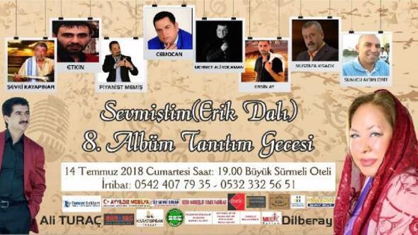 Adanalı sanatçı Ali Turaç, Sevmiştim-Erik Dalı albümünü tanıtacak