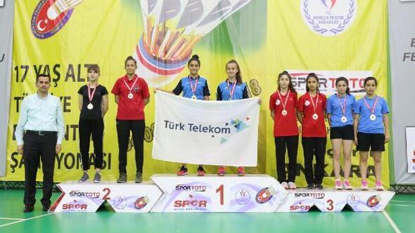 Badmintonda 17 Yaş Türkiye Şampiyonası sona erdi