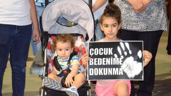 Aydında çocuk istismarları protesto edildi