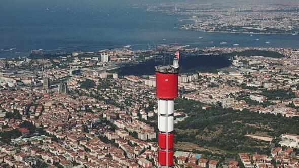 (Havadan fotoğraflarla) - Küçük Çamlıca TV-Radyo Kulesi inşaatında sona yaklaşılıyor