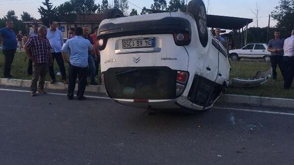 Samsunda kaza: 1 yaralı
