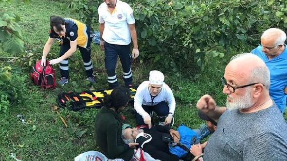 Fındık bahçesinde patpat devrildi: 2 yaralı