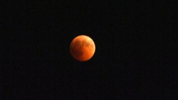 Mersinde Kanlı Ay Tutulması izlendi - Ek fotoğraflar