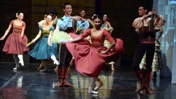 Bodrumda Don Kişot balesi sahnelendi
