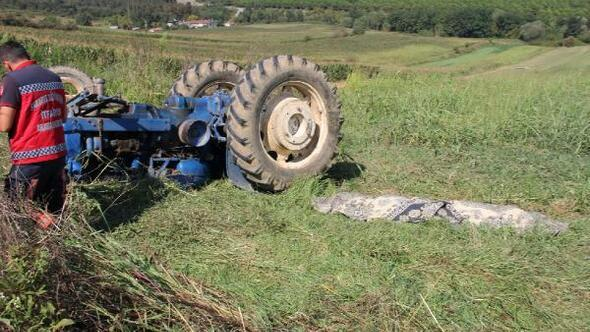 Tekerleği kopan traktörün altında kalarak öldü