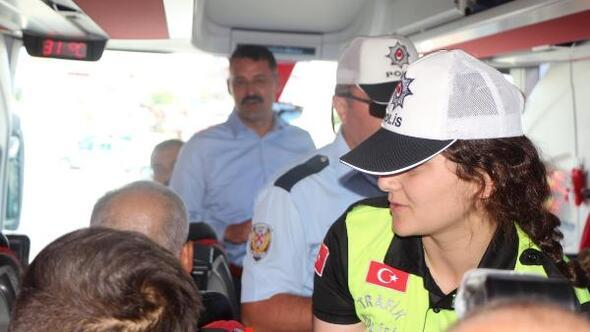 Kırıkkale valisi trafik denetimine katıldı