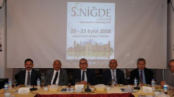 Ankara'da Niğde tanıtım günleri düzenlenecek