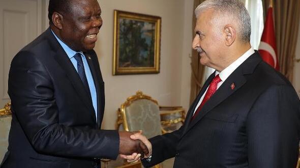 TBMM Başkanı Yıldırım, Zambiyanın Ankara Büyükelçisi Chilengiyi kabul etti