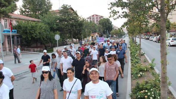 Kırşehir'deki sağlıkçılar, sağlık için yürüdü