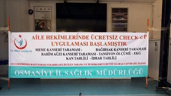 Osmaniyede ASMlerde Check-up uygulamasına başlandı