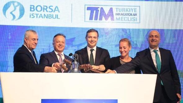 TİM İhracat Endeksi Borsa İstanbul'da gong ile açıldı