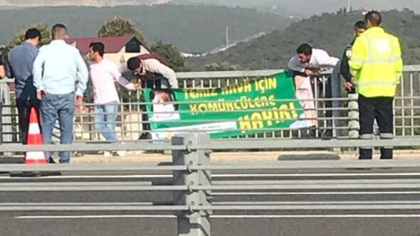 Osmangazi Köprüsünde Kömürcüler OSB eylemi