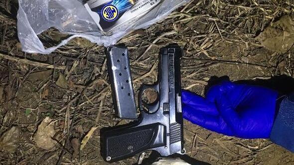 Düğün magandası tutuklandı, tabanca çalılıkta bulundu