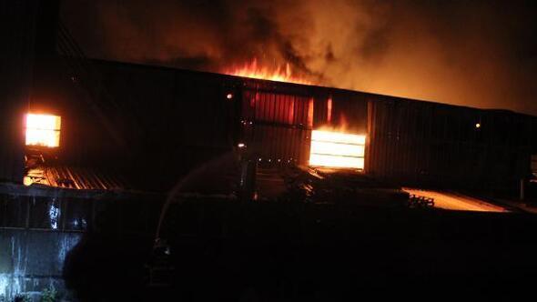 Hatayda fabrika yangını