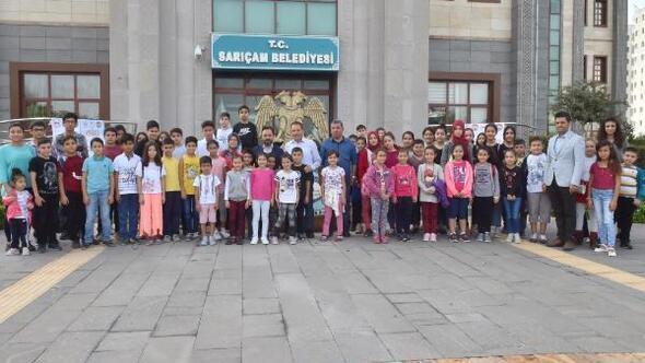 Sarıçam'da, 250 çocuk sinema ile buluştu