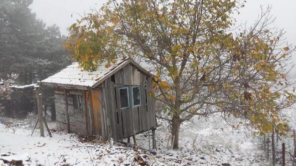 Demirciye mevsimin ilk karı yağdı