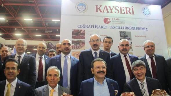 Kayseri yöresel lezzetleri, YÖREX fuarında tanıtıldı