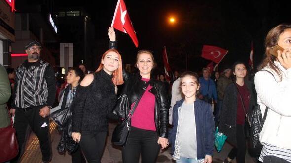 Samsun'da Fener Alayı yürüyüşü