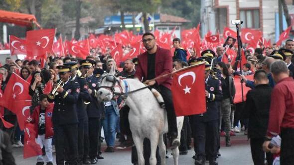 Edirnede Cumhuriyet yürüyüşü