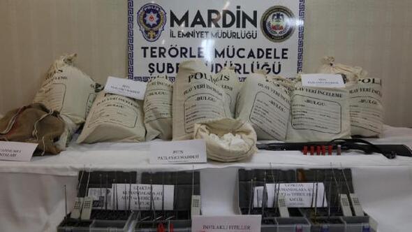 Mardinde 3 terörist, 250 kilo patlayıcıyla yakalandı (2)