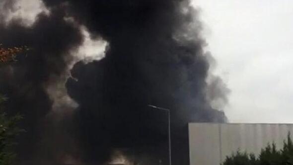 Gebzede, fabrika çatısında yangın (2) - Yeniden