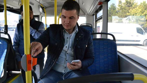 EGO otobüslerinde sarjlı yolculuk