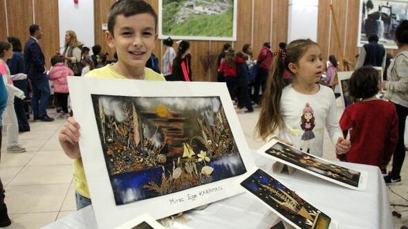 Çocuklara doğa sevgisini resim yaptırarak aşılıyor