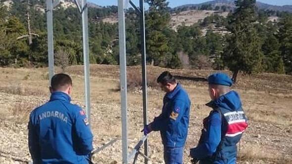 Hırsızlar elektrik direklerine dadandı