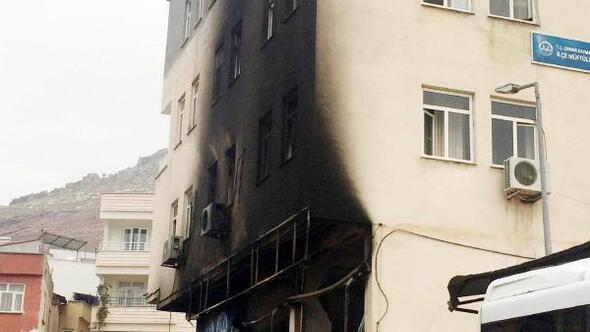 Müftülüğün bulunduğu binada korkutan yangın