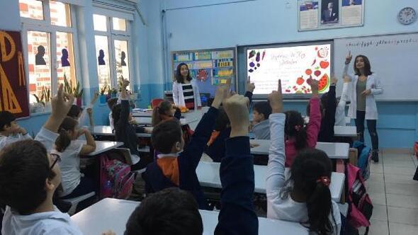 Doktor adayları ilkokul öğrencileriyle buluştu