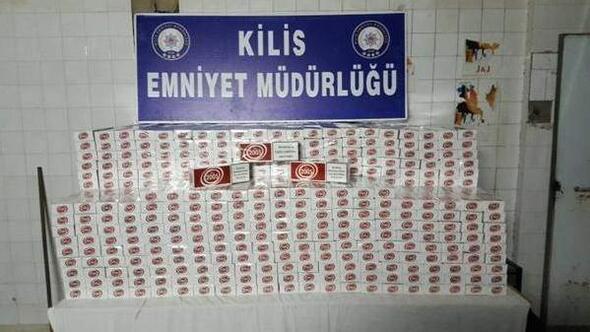 Kilis'te, 13 bin 670 kaçak sigara ele geçirildi