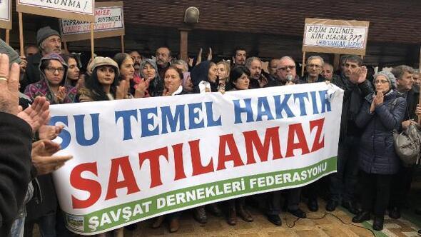 Şavşatda HES ve maden ocakları  protestosu edildi