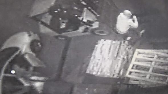 Başakşehirde içinde 1 milyon liralık çek bulunan kasayı böyle çaldılar