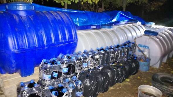 Elazığda 11 ton 140 litre sahte şarap ele geçirildi