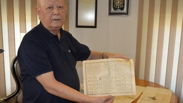 Sandıktan 100 yıllık Osmanlı tahvili çıktı