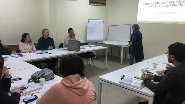 Acil sağlık hizmetleri personeline temel modül eğitimi yapıldı