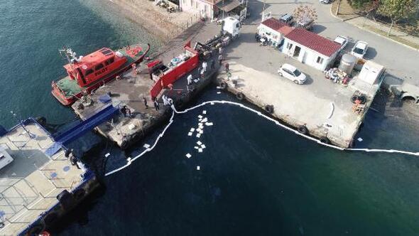 Darıcada denizi kirleten gemi tespit edildi