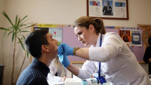 313 engelli öğrenciye ücretsiz diş taraması