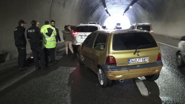 Ümraniye Tantavi Tünelinde kaza: 1 yaralı