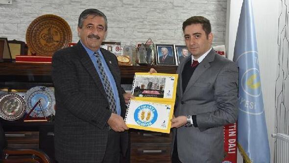 Başkan Işık Tomarza ilçe tanıtımı için pul bastırdı