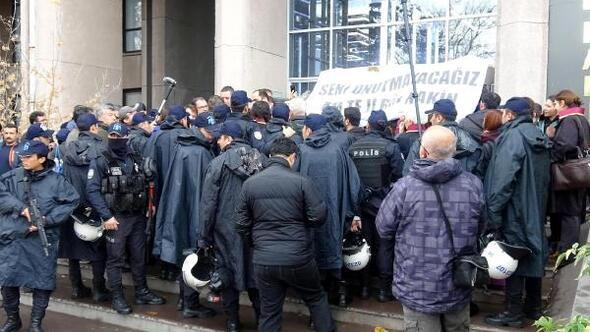 Ankara Adliyesi önünde Tahir Elçi açıklaması gerginliği
