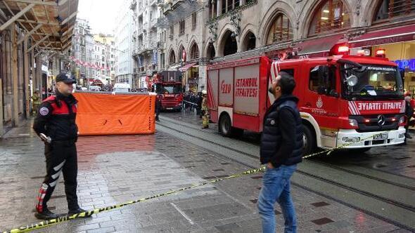 İstiklal Caddesindeki intihar girişimi 2 saat sürdü